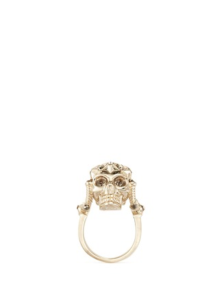 Main View - Click To Enlarge - Alexander McQueen - Star dust royal skull ring