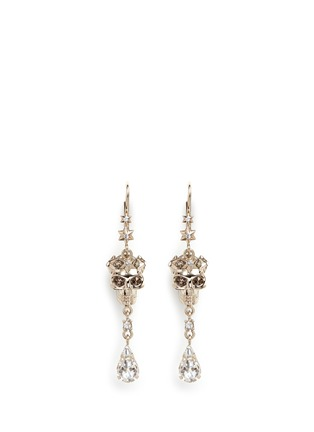 Main View - Click To Enlarge - Alexander McQueen - Swarovski crystals royal skull drop earrings