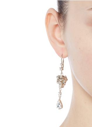 Figure View - Click To Enlarge - Alexander McQueen - Swarovski crystals royal skull drop earrings