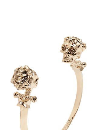 Detail View - Click To Enlarge - Alexander McQueen - Star dust twin skull cuff