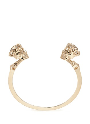 Main View - Click To Enlarge - Alexander McQueen - Star dust twin skull cuff
