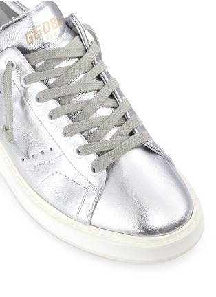 Detail View - Click To Enlarge - Golden Goose - 'Starter' metallic leather sneakers