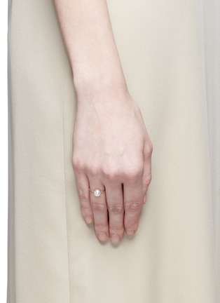 Figure View - Click To Enlarge - SHIHARA - 'Half Pearl 0°' 18k yellow gold ring