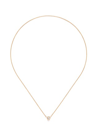 Main View - Click To Enlarge - Shihara - 'One Stone' diamond 18k yellow gold necklace