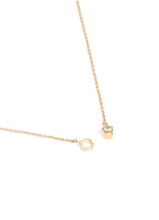 Figure View - Click To Enlarge - Shihara - 'One Stone' diamond 18k yellow gold necklace
