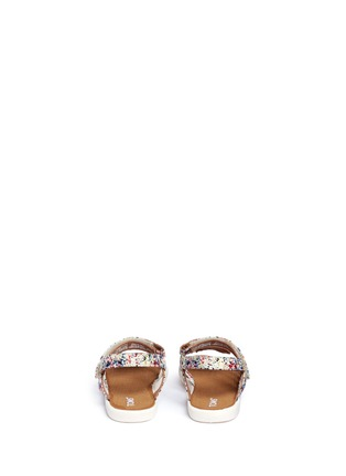 Back View - Click To Enlarge - 90175 - Tiny Huarache paint splatter print toddler slingback sandals
