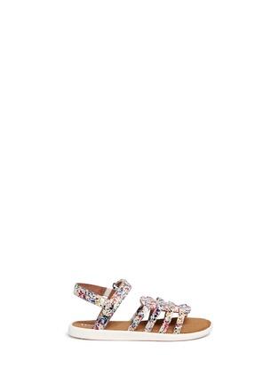 Main View - Click To Enlarge -  - Tiny Huarache paint splatter print toddler slingback sandals