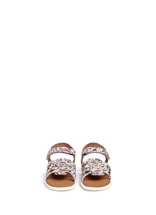 Figure View - Click To Enlarge -  - Tiny Huarache paint splatter print toddler slingback sandals
