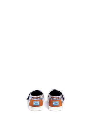 Back View - Click To Enlarge - 90175 - Tiny Bimini woven plaid toddler slip-ons