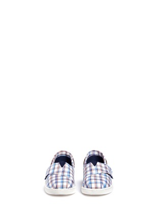 Figure View - Click To Enlarge - 90175 - Tiny Bimini woven plaid toddler slip-ons