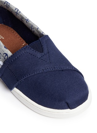 Detail View - Click To Enlarge - 90175 - Tiny Bimini anchor print canvas slip-ons