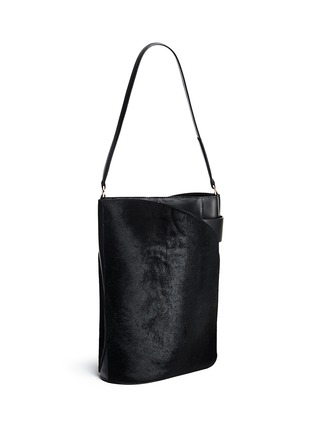 Front View - Click To Enlarge - Hillier Bartley - 'Cigar' ponyhair leather tote