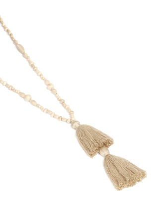 Detail View - Click To Enlarge - Isabel Marant - 'Berbere' beaded wood tassel necklace