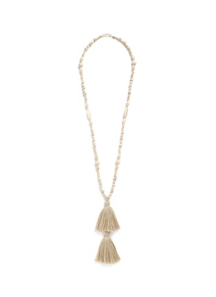 Main View - Click To Enlarge - Isabel Marant - 'Berbere' beaded wood tassel necklace
