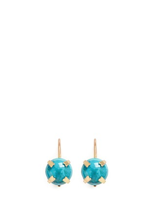 Main View - Click To Enlarge - Isabel Marant - 'Jacques' stone cabochon drop earrings