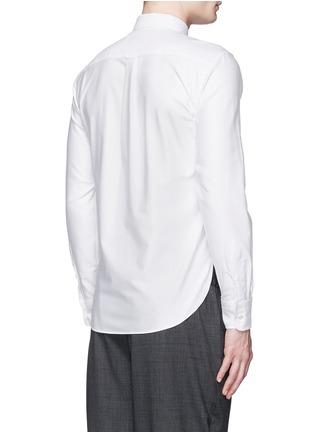 Back View - Click To Enlarge - Maison Kitsuné - Fox logo embroidery cotton Oxford shirt