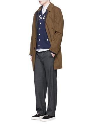 Figure View - Click To Enlarge - Maison Kitsuné - Fox logo embroidery cotton Oxford shirt