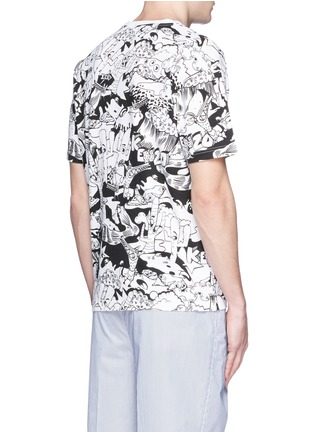 Back View - Click To Enlarge - KENZO - Cartoon desert print T-shirt