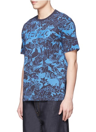 Front View - Click To Enlarge - KENZO - 'Cartoon' print T-shirt