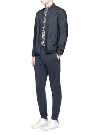 Figure View - Click To Enlarge - KENZO - Tiger logo plate sweatpants