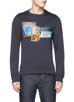 Main View - Click To Enlarge - KENZO - Mix badge print sweatshirt