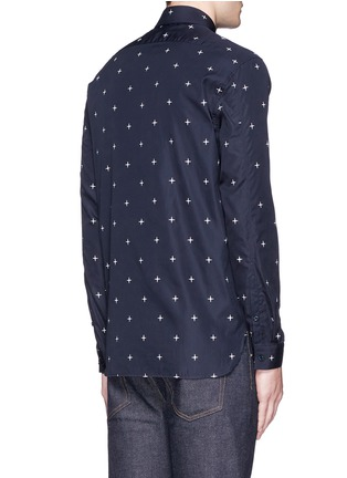 Back View - Click To Enlarge - Neil Barrett - Star print poplin shirt
