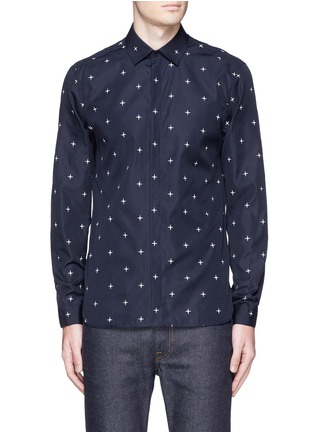 Main View - Click To Enlarge - Neil Barrett - Star print poplin shirt