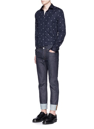 Figure View - Click To Enlarge - Neil Barrett - Star print poplin shirt
