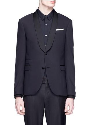 Main View - Click To Enlarge - Neil Barrett - Satin lapel tuxedo blazer