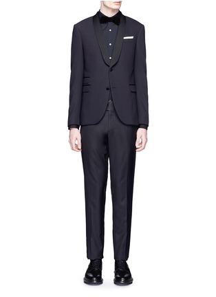 Figure View - Click To Enlarge - Neil Barrett - Satin lapel tuxedo blazer
