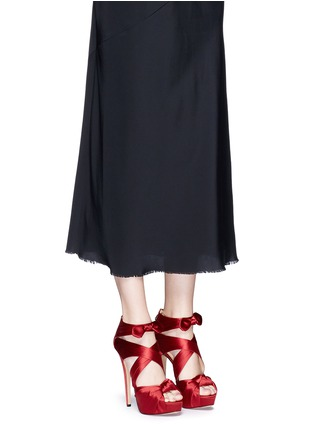 Figure View - Click To Enlarge - Charlotte Olympia - 'Andrea' silk satin platform sandals