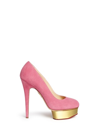 Main View - Click To Enlarge - Charlotte Olympia - 'Dolly' suede platform pumps