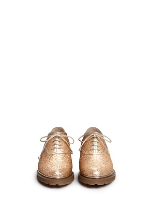 Front View - Click To Enlarge - CHARLOTTE OLYMPIA - 'Stefania' glitter Oxfords
