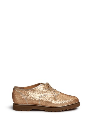 Main View - Click To Enlarge - CHARLOTTE OLYMPIA - 'Stefania' glitter Oxfords
