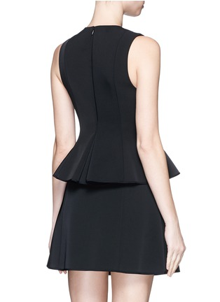 Back View - Click To Enlarge - Alexander Wang  - Lace-up peplum shell top