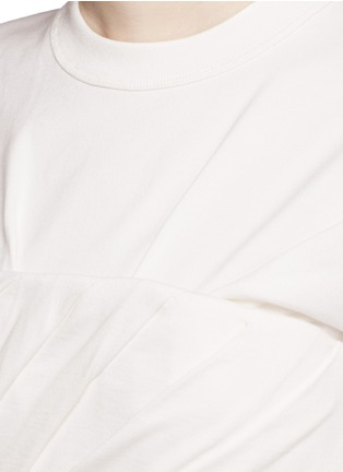 Detail View - Click To Enlarge - Alexander Wang  - Ruched jersey bustier T-shirt