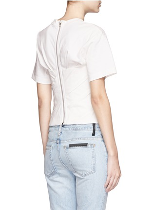 Back View - Click To Enlarge - Alexander Wang  - Ruched jersey bustier T-shirt