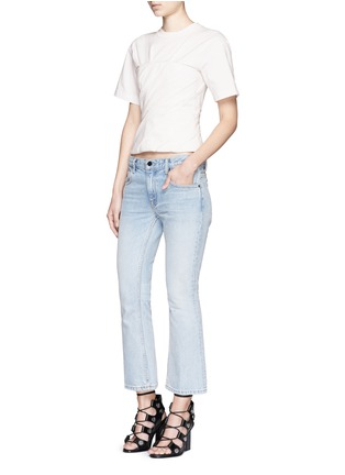 Figure View - Click To Enlarge - Alexander Wang  - Ruched jersey bustier T-shirt
