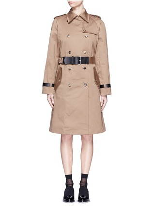 Main View - Click To Enlarge - Alexander Wang  - Leather strap oversize twill trench coat