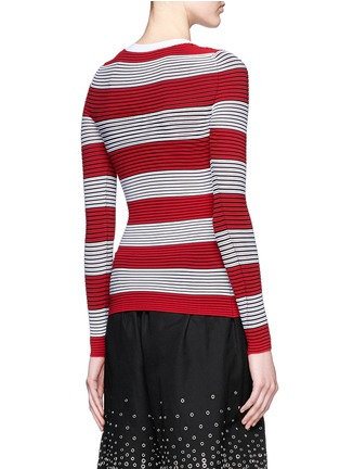 Back View - Click To Enlarge - Alexander Wang  - Tubular stripe crew neck pullover