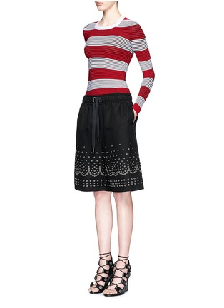 Figure View - Click To Enlarge - Alexander Wang  - Tubular stripe crew neck pullover