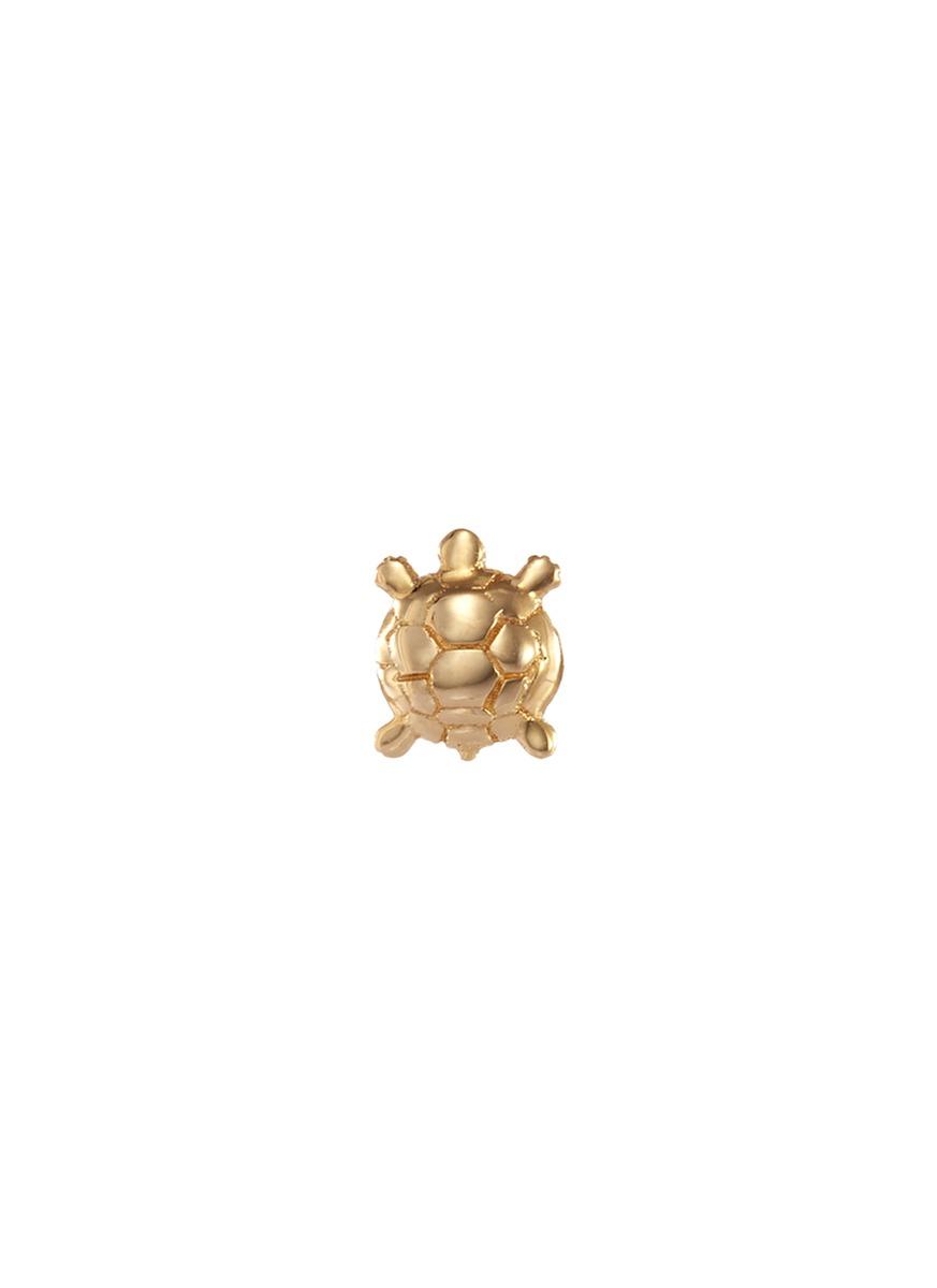 LOQUET LONDON 'Turtle' 14K Yellow Gold Single Stud Earring – Wisdom
