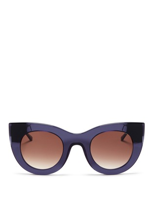 Main View - Click To Enlarge - THIERRY LASRY - 'Cheeky' matte temple acetate cat eye sunglasses