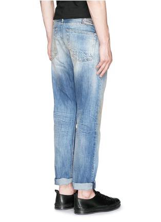 Back View - Click To Enlarge - DENHAM - 'Razor' distressed slim fit jeans