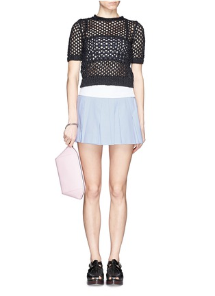 Figure View - Click To Enlarge - alexanderwang - Chastity large karung embossed leather pouch