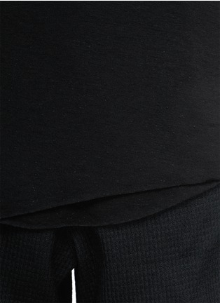 Detail View - Click To Enlarge - SONG FOR THE MUTE - Asymmetric hem long double layer T-shirt