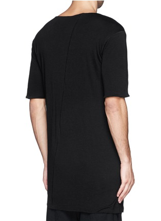 Back View - Click To Enlarge - Song for the Mute - Asymmetric hem long double layer T-shirt