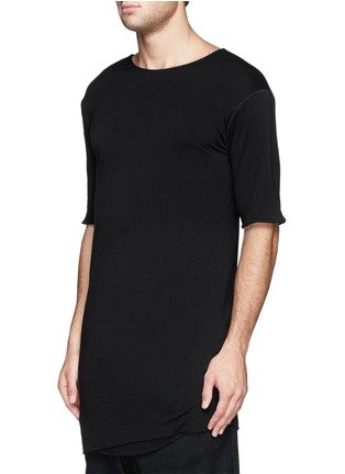 Front View - Click To Enlarge - SONG FOR THE MUTE - Asymmetric hem long double layer T-shirt