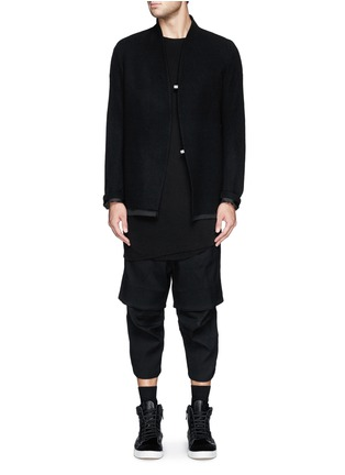 Figure View - Click To Enlarge - SONG FOR THE MUTE - Asymmetric hem long double layer T-shirt