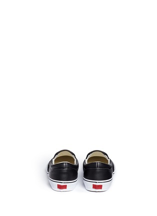 Back View - Click To Enlarge - Vans - 'Classic LX' leather skate slip-ons